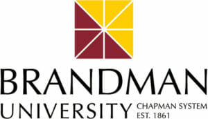 A logo for Brandman University for our ranking of the 20 Best Online ABA Certificates