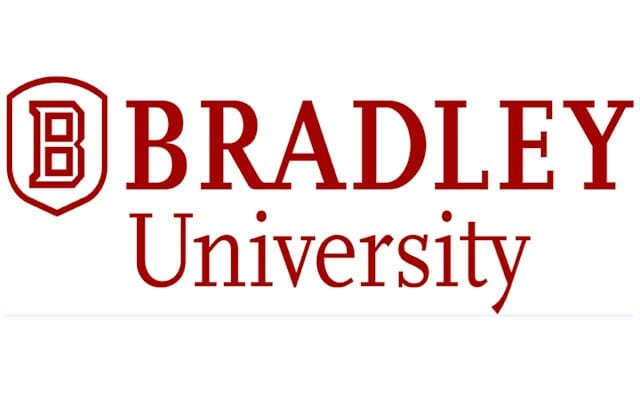 Logo for Bradley University in our ranking of Top 30 Online Master's in School Counseling
