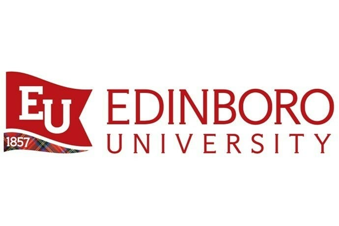 Logo for Edinboro University in our ranking of Top 30 Online Master's in School Counseling