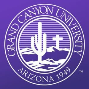A logo for Grand Canyon University for our ranking of the top online master's in autism