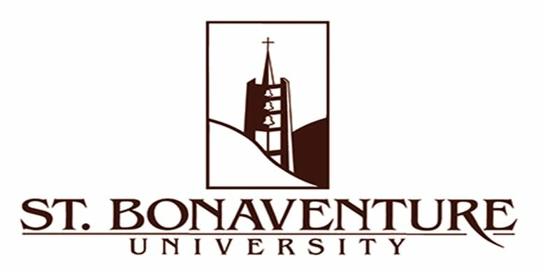 Logo for St. Bonaventure University in our ranking of Top 30 Online Master's in School Counseling