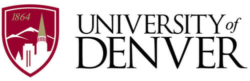 Logo for University of Denver in our ranking of Top 30 Online Master's in School Counseling