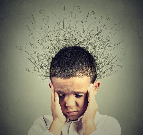 Image of child thinking for our FAQ on ADD and ADHD