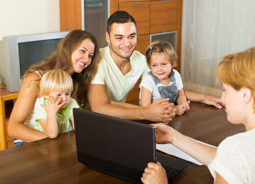 Image of a family for our FAQ about ABA jobs