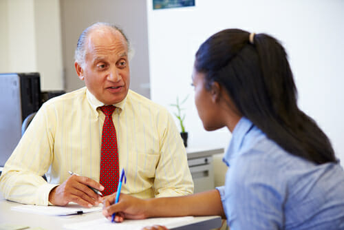 Image of an interview for our FAQ What is a Comprehensive School Counseling Program?