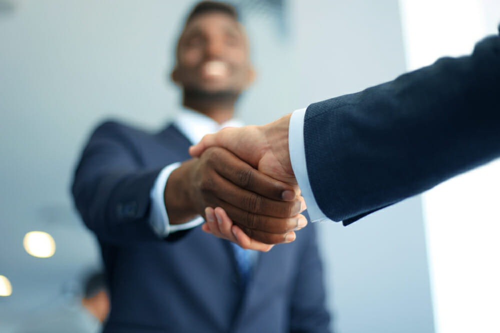 Image of men shaking hands for our homepage of ABA degree programs