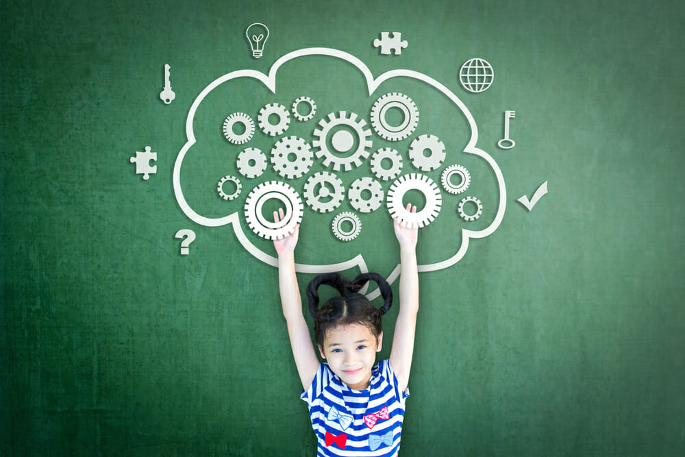 Image of a child thinking for the homepage of ABA degree programs