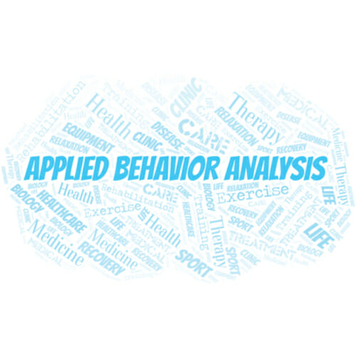 Image of the words applied behavior analysis for our FAQ What is an Applied Behavior Analysis Counseling Session Like?