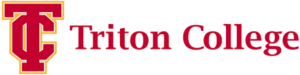 A logo for Triton College for our ranking of the top online Registered Behavioral Technician programs