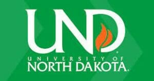 A logo for University of North Dakota for our ranking of the top online master's in autism